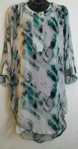 MOSSIMO PAINTERLY ABSTRACT PRINT TOP